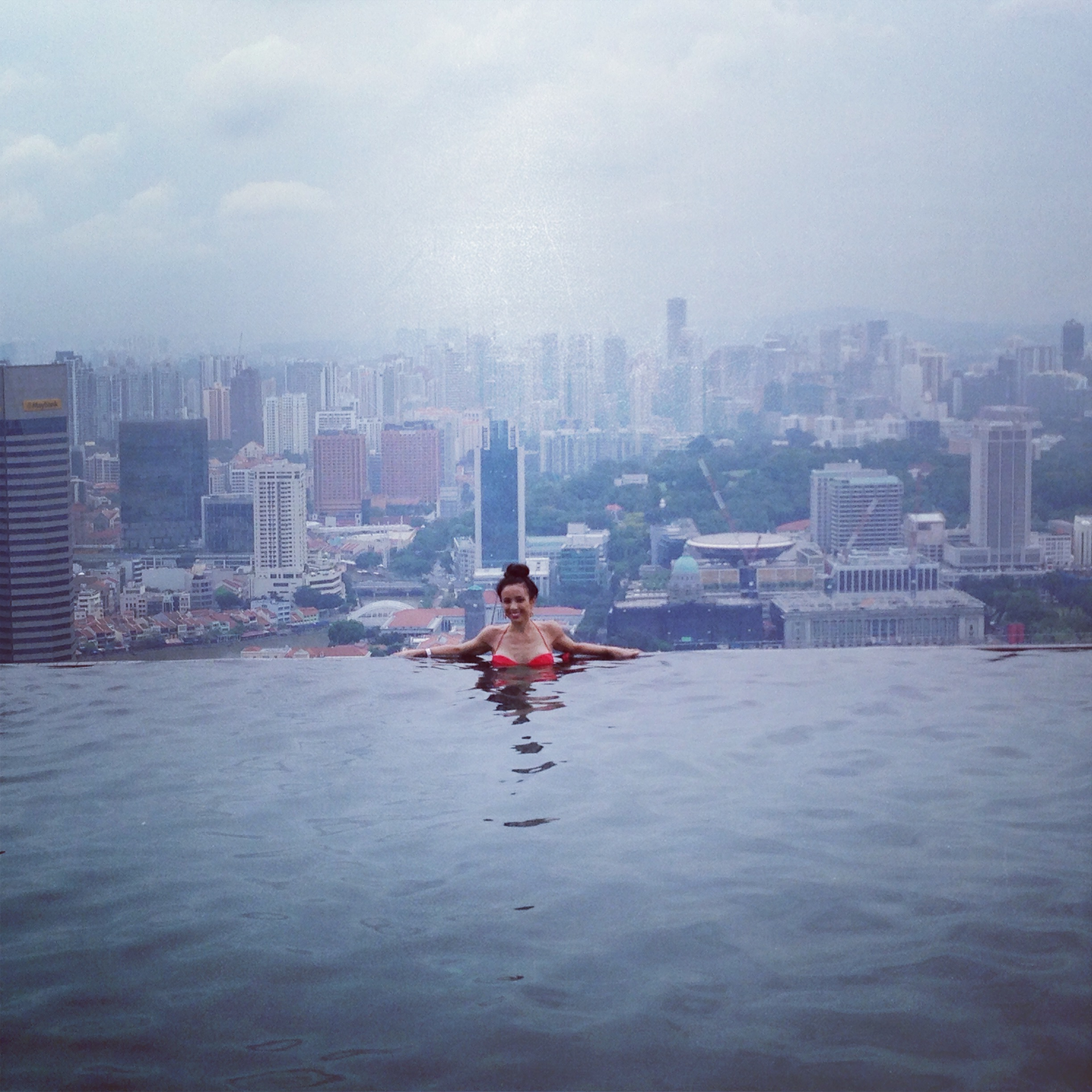 What it looks like to take a dip in the world s tallest for Tallest hotel in singapore